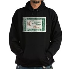 Give Me Liberty 4-cent Stamp Hoodie (dark)