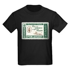 Give Me Liberty 4-cent Stamp Kids Dark T-Shirt