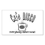 Cafe Disco Rectangle Sticker 10 pk)