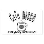 Cafe Disco Rectangle Sticker