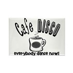 Cafe Disco Rectangle Magnet