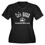 Cafe Disco Women's Plus Size V-Neck Dark T-Shirt