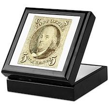 Ben Franklin 5-cent Stamp Keepsake Box