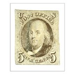Ben Franklin 5-cent Stamp Small Poster
