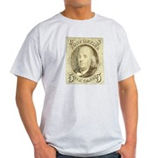 Ben Franklin 5-cent Stamp T-Shirt