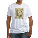 Ben Franklin 5-cent Stamp Fitted T-Shirt