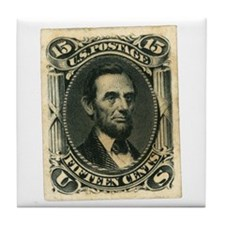 Abraham Lincoln 15-cent Stamp Tile Coaster