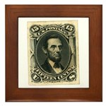 Abraham Lincoln 15-cent Stamp Framed Tile