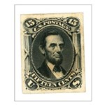 Abraham Lincoln 15-cent Stamp Small Poster