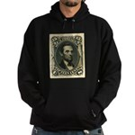 Abraham Lincoln 15-cent Stamp Hoodie (dark)