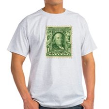 Ben Franklin 1-cent Stamp T-Shirt