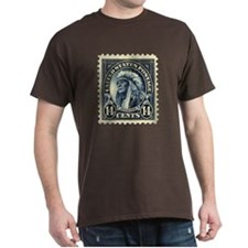 American Indian 14-cent Stamp Dark T-Shirt