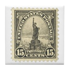 Liberty 15-cent Stamp Tile Coaster