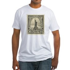 Liberty 15-cent Stamp Fitted T-Shirt