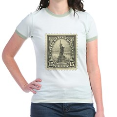 Liberty 15-cent Stamp Jr. Ringer T-Shirt