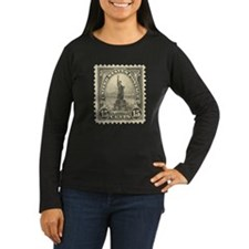 Liberty 15-cent Stamp Women's Long Sleeve Dark T-S