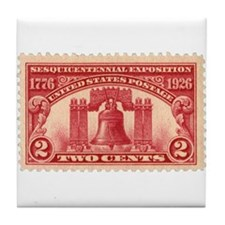 Sesquicentennial 2-cent Stamp Tile Coaster