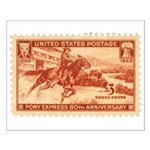 Pony Express 3-cent Stamp Small Poster