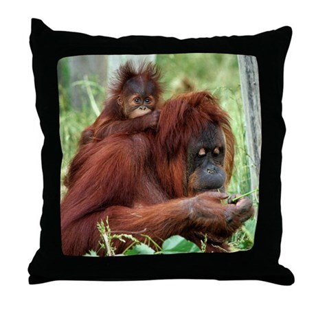 Orangutan's Throw Pillow