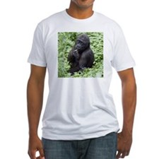 Relaxing Young Gorilla Fitted T-Shirt