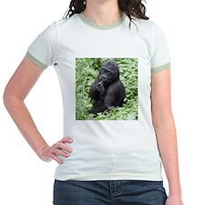 Relaxing Young Gorilla Jr. Ringer T-Shirt