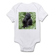 Relaxing Young Gorilla Infant Bodysuit