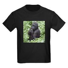 Relaxing Young Gorilla Kids Dark T-Shirt