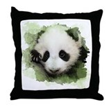 Baby Giant Panda Throw Pillow