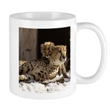 Mom and Baby Cheetah Small Mug