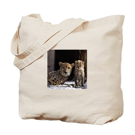 Mom and Baby Cheetah Tote Bag