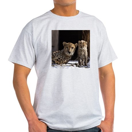 Mom and Baby Cheetah Light T-Shirt