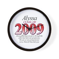 Alyssa's Grad Gift Wall Clock