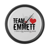 Team Emmett - i love my monke Large Wall Clock
