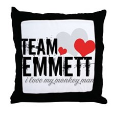 Team Emmett - i love my monke Throw Pillow