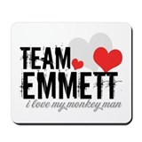 Team Emmett - i love my monke Mousepad