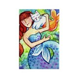 MERMAID & CATFISH No.6...Refrigerator Magnet