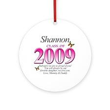 Shannon's Grad Gift Ornament (Round)