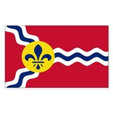 St. Louis Flag Rectangle Sticker 10 pk)