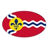 St. Louis Flag Oval Décalcomanies