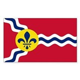 St. Louis Flag Rectangle Decal