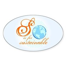 S is for Sustainable | Oval Decal