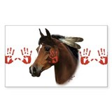 War Horse Rectangle Sticker 10 pk)