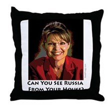 Sarah Palin Can You See Russia Throw Pillow