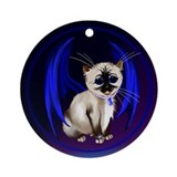 Dragon Kitty Ornament (Round)