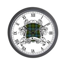 MacKenzie Tartan Shield Wall Clock