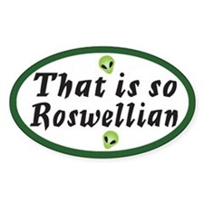 General Roswell Oval Decal