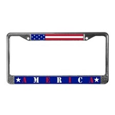 Old Glory License Plate Frame