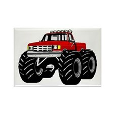 Red MONSTER Truck Rectangle Magnet (100 pack)