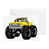 Yellow MONSTER Truck Greeting Card