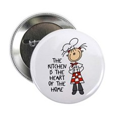 """Kitchen Is The Heart 2.25"""" Button (10 pack)"""